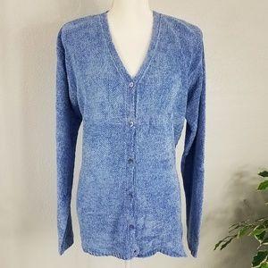 NWT August Silk Blue Knit Sweater